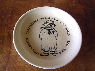 Commemorative pin dish, Shaftesbury & Gillingham Caravan Rally 1978