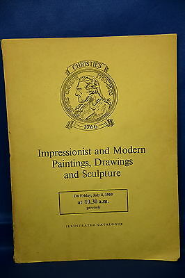 Vintage Christie's Auction Illustrated Catalogue Painting & Sculpture July 1969