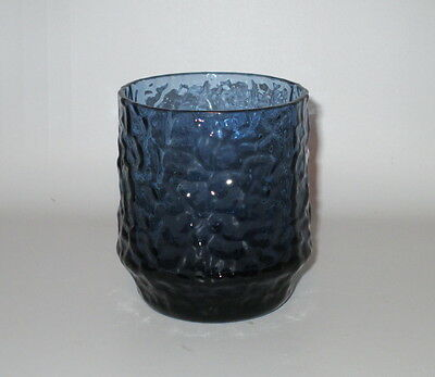 Lenox Crystal Impromptu  Dark Blue Old Fashioned Tumbler Hand Blown USA Made