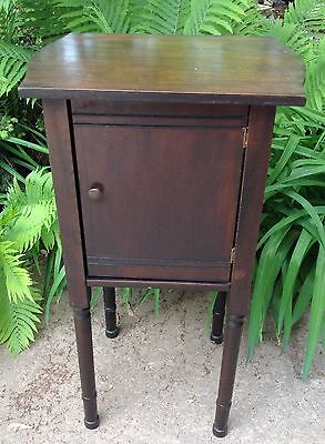 Vintagehumidor Smokers Antique Wood Copper Lined Cabinet Table Tobacco Cigar