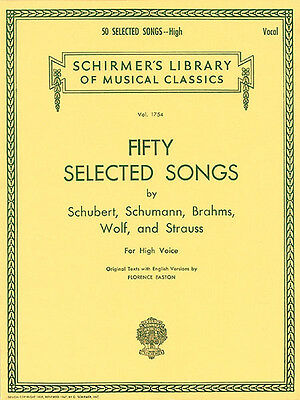 50 Selected Songs High Voice Classical Intermediate Sheet Music Book NEW