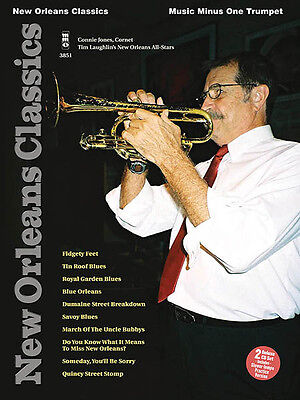 New Orleans Classics Trumpet Jazz Sheet Music Minus One Play-Along Book CD NEW