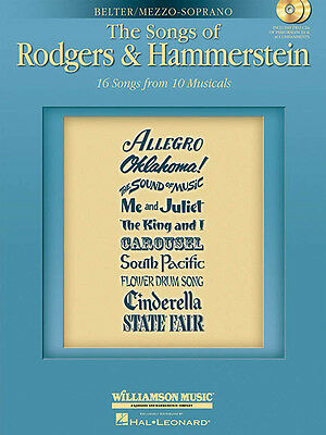 Songs of Rodgers & Hammerstein Mezzo-Soprano Sheet Music Sing-Along Book CD NEW