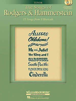 Songs of Rodgers & Hammerstein Tenor Vocal Sheet Music Sing-Along Book 2 CD NEW