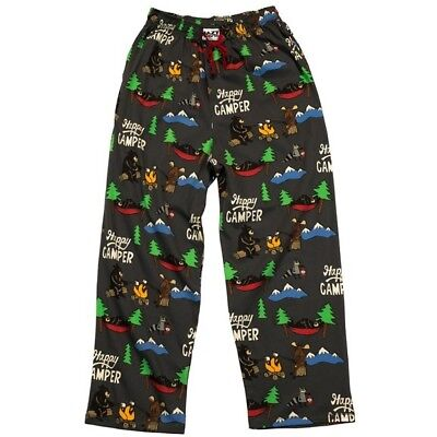 Lazy One Happy Camper Unisex PJ Pants, Choice Of Sizes