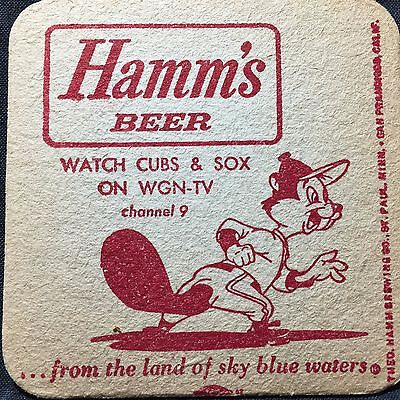 Hamm's Beer Chicago Cubs Sox WGN vintage coasters (10)  Free Shipping