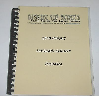 Madison Co Indiana 1850 Census IN history genealogy Anderson Edgewood