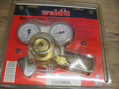 New Smith Weld-It Oxygen Regulator 770135 Dual Filters Solid Brass Non-Corrosion
