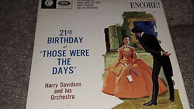 HARRY DAVIDSON &  His Orchestra 21st Birthday of Those were the days ENC171 Mono