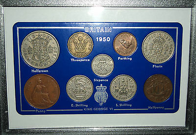 1950 Vintage Rare Penny Coin Set 67th Birthday Present Wedding Anniversary Gift