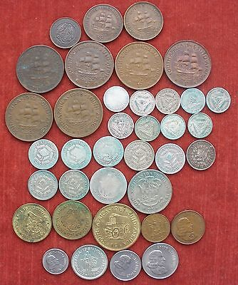 SILVER COINS OF SOUTH AFRICA / SUID AFRIKA FROM 1890s . 37 coins