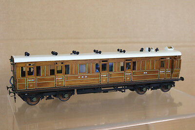 LAWRENCE SCALE D&S MODELS O GAUGE KIT BUILT GNR 1st CLASS BRAKE COACH 98 nk