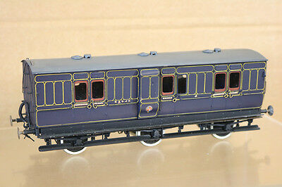 LAWRENCE SCALE D&S MODELS O GAUGE KIT BUILT S&DJR 6 WHEEL BRAKE LUGGAGE COACH nk