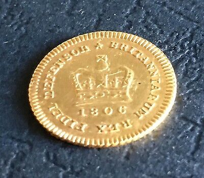 ***** 1806 George III Gold One-Third Guinea *****   (Ref: Y)