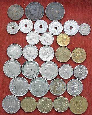 COINS GREECE from 1869 . 31 DIFFERENT COINS Collection of 31 Greek coins