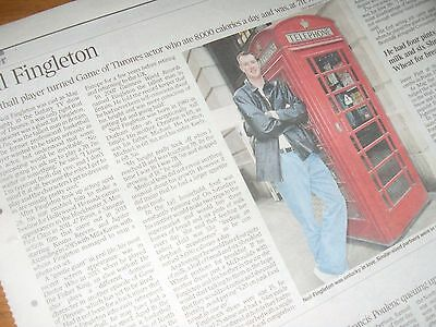 Game of Thrones actor NEIL FINGLETON.BRITAIN'S TALLEST MAN Times Obituary.7.3.17