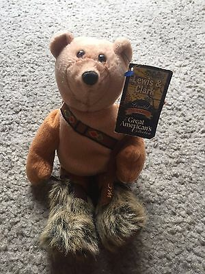 Lewis & Clark Limited Treasures Great American's Collection Bear plush NWT 2001