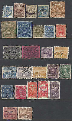 Latin America Telegraph Stamps hi val selection 26 diff stamps Barefoot cv $85