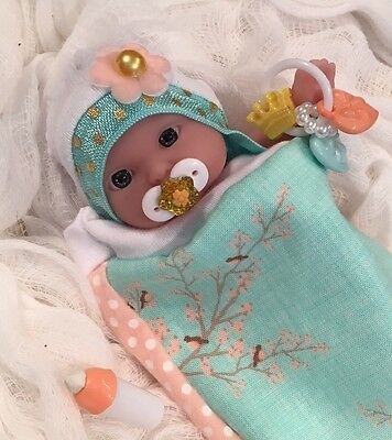 """PRETTY 5 pc GiRL Baby DOLL CLOTHES~PaCiFieR~ToY~FOR 5-6"""" Mini Reborn~Berenguer"""