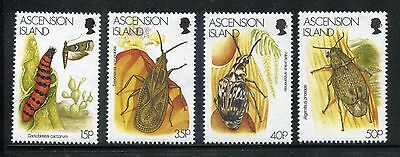 Ascension 692-695, MNH, insects 1998 Moth & Caterpillar. x23856