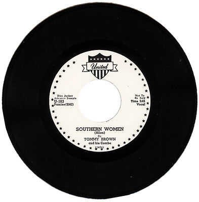 """TOMMY BROWN And HIS COMBO  """"SOUTHERN WOMEN""""  SLEAZY 50's BLUES GRINDER  LISTEN!"""