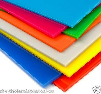 Acrylic Sheet Perspex 24 Colours A5 5mm Red Blue Brown Violet White Green Pink