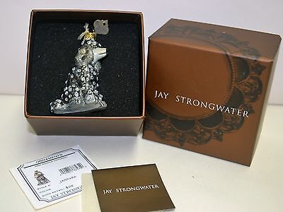 JAY STRONGWATER Grey Poodle Ornament, Vintage, Like Brand New in box, with tag