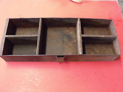 1937 Chevy Vintage National Seal Advertising Drawer Bin Tray Tin & Wooden