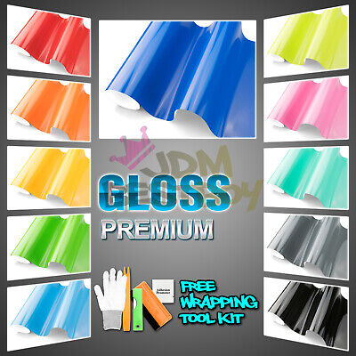 *Premium Gloss Glossy Vinyl Wrap Car Vehicle Sticker Decal Film Air Bubble Free