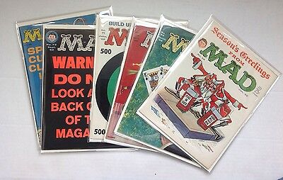 Vintage 1962 MAD MAGAZINE Comic Lot Of 6 Issues Alfred E. Neuman