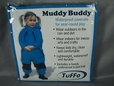 Tuffo Muddy Buddy Coveralls Rain Suit Jacket Size 18 Months Blue Black New