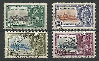 Cayman Islands The 1935 Gv Silver Jubilee Set Fine Used Cat £20