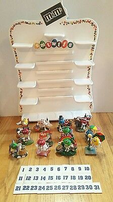 Danbury Mint M&M's PERPETUAL CALENDAR w/ 12 M&M Figures ~ Collectible!