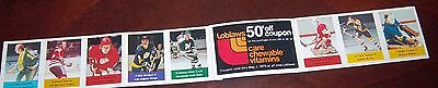 Loblaws / Save Easy NHL action players 1974-75 full strip  8 player stamps # 13