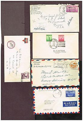 Canada Newfoundland Military  Censored Airmail Usa Fdc Etc   (Uje7,8