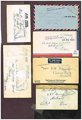 Canada Newfoundland Military  Censored Airmail Etc   (Uje7,2