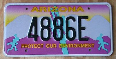 ARIZONA LIZARD  license plate  1996  4886E