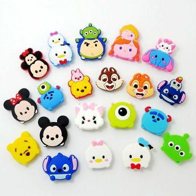 Kid Mickey Minnie Duck Bear Shoe Charm Accessory for Croc Clog & Wristband 20pcs