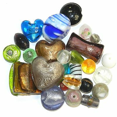GL4488f Assorted Color, Size & Shape 5-29mm Lampworked Glass Bead Mix 8oz