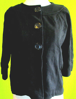 Gap Maternity Black Jacket Blazer XS Button Belle 3/4 Sleeves