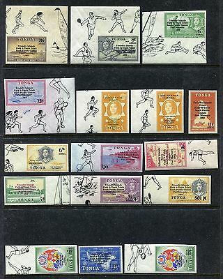 Tonga, MNH, Imperforated, Surcharged Friendly Islands South Pacific Games x26544