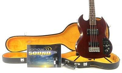 1972 Gibson SB-350 Electric Bass Guitar - Heritage Cherry w/Case Vintage SB35O