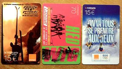 Mobicarte - Lot 3 Cartes Differentes - 1