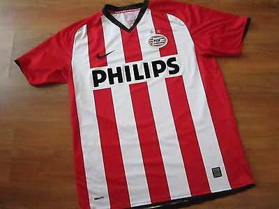 Mens NIKE PSV EINDHOVEN FOOTBALL HOME Shirt Kit (L) *GREAT COND*