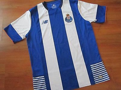 Mens Adults NEW BALANCE FC PORTO FOOTBALL HOME Shirt Kit (L) *MINT COND*