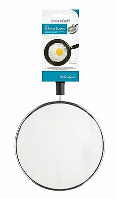 Kitchen Craft Small Wire 20cm Splatter Guard Screen Hot Frying Pan Cover