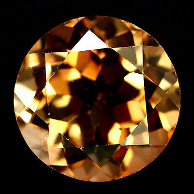 3.59 Ct Aaa! Natural! Champagne Brazilian Topaz Round