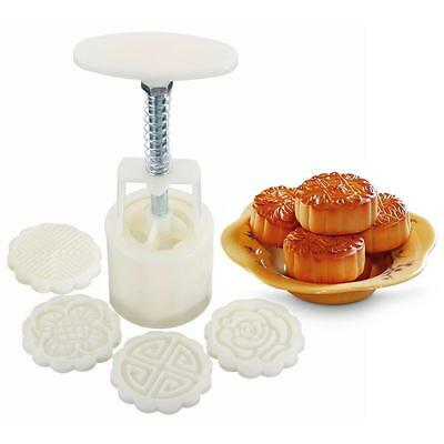 KINGSO Round Mooncake 50g DIY Moon Cake Mold Cookie Cutter 4 Flower Plant...
