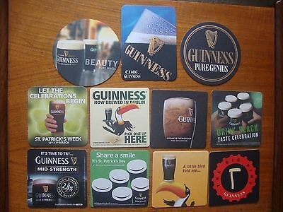 11  Different  Guinness  Beer  Mats / Coasters   New