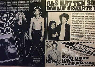 2 german clipping SEX PISTOLS SHIRTLESS SID VICIOUS PUNK BOY ROCK BAND BOYS 70`s